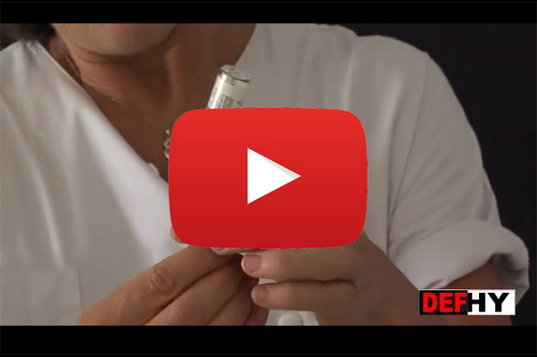 Vidéo tutoriel injection hydrocortisone en urgence CRMR DEFHY, capture d'écran Youtube